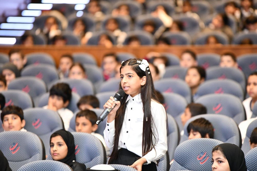 Sharjah Children Parliament present the idea of mobile caravansand smart systems to curb bullying incidents
