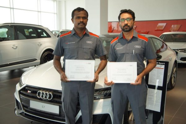 Audi Abu Dhabi congratulates the first two Master Technicians